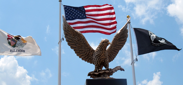 Veterans Memorial Eagle and Flag