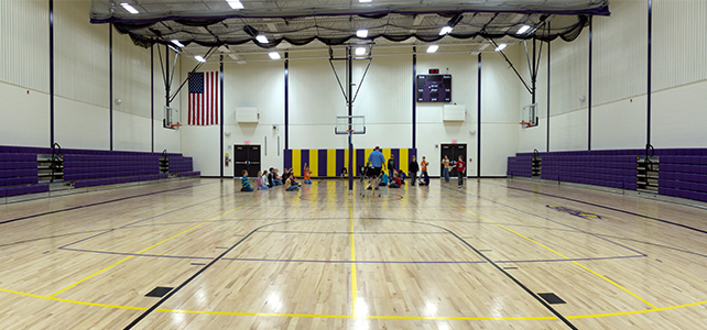 Schuyler-Industry MS Gym Addition Interior
